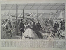Second Annual Review New York Yacht Club 1866 Antique Print Harper's Weekly