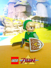 Custom Lego Zelda Wind Waker Toon Link Minifig w/ Phantom Spirit Sword & Shield