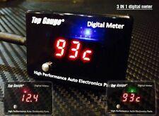 Digital Gauge Motorcycle Volt Oil temp Water temperature LED Waterproof 3 in1