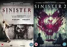 Sinister Complete Double Movie Film Collection Part 1 AND 2 Sequel NEW UK R2 DVD