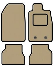 PEUGEOT 607 BEIGE TAILORED CAR MATS WITH BLACK TRIM