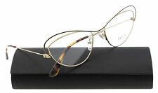 New Prada Eyeglasses Women Cat eye VPR 56Q Gold QE4-1O1 Parallel Universes 53mm