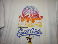 Vintage 80s Disney Mickey Mouse Epcot Center T-Shirt White L