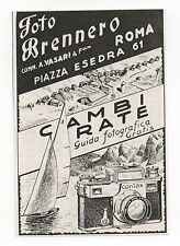 Pubblicità 1940 CONTAX CARL ZEISS JENA FOTO PHOTO advertising werbung publicitè