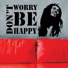 Vinyl Wall Decals Sticker * Don't Worry Be Happy * BOB MARLEY Music Quote Saying