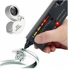 JEWELLERS DIAMOND GEMSTONE TESTER + 40X25 LED LOUPE LOOP FOR SCRAP GOLD & SILVER