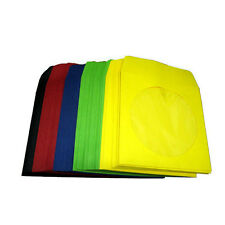 1000 CD/DVD Disc Paper Sleeve with Window & Flap Multi Color Expedited Shipping