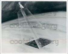 1976 Artist Conception Radar Piercing Clouds Map Topography Venus Press Photo