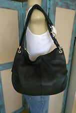 TOSCA by Pergolesi* Pebbled Black Leather Hobo Shoulder bag Made in Italy