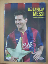 Messi Calendar 2015 Leo La Pulga Messi With Free Stickers New and Sealed