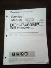Pioneer Service Manual for the DEHP 480MP P4800MP Car Stereo Radio CD Player  mp