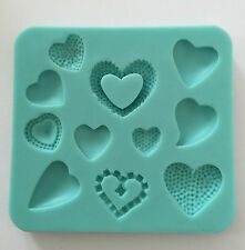 Heart 11 designs Cake Chocolate Silicone Mold Cupcake Wedding Baking Candy