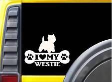 Westie Bone Sticker L081 8 inch west highland terrier dog decal