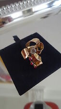 NEW WOMEN'S GOLD RING 7.8 GR 750 18 KT 70 YEARS VINTAGE RUBY NATURAL BAGUE OR