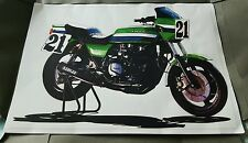 Kawasaki S1 -1000 1982 iconic AMA SUPERBIKE Eddie Lawson #21 ELR Sketch- drawing