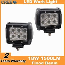 2pcs 4inch 18W CREE led work light led lamp for car offroad SUV flood beam
