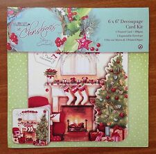 """Papermania At Christmas Lucy Cromwell 6 X 6"""" Card Making Craft Kit inc Envelope"""