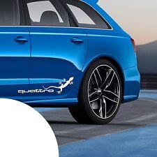 2x Quattro 2x Gecko Auto XXL Aufkleber für die Karosserie Audi Sticker