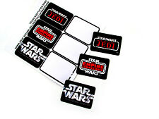 STAR WARS VINTAGE REPLACEMENT STICKERS - DIE CUT for HAN SOLO LASER PISTOL