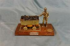 Interesting figural coal industry trophy! Has a coal miner and Coal cart.