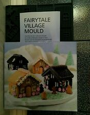 Silicone Christmas Cookie Chocolate Gingerbread House Village Mould Makes 4