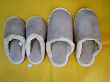 Dream Products Memory Cushioned Super Scuffs  Beige Fur House Shoes Sizes S, XL