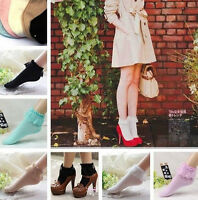 Vintage Lace Ruffle Frilly Ankle Socks Fashion Ladies Princess Girl Gift White