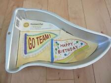 WILTON PENNANT PLAN CAKE PAN GO TEAM HAPPY BIRTHDAY PLUS INSTRUCTIONS