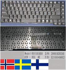 CLAVIER QWERTY NORDIC / NORDIQUE Packard Bell E1245 E1260 E1280 E1510 E1 Noir