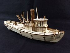 Laser Cut Wooden Tug Boat 3D Model/Puzzle Kit