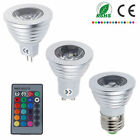 LED Bombillas MR16 GU10 E27 4W RGB Colorful Bulb Light Lamp Focos Lámparas & IR