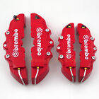 Red 3D Brembo Style Disc Brake Caliper Covers 4pcs Front and Rear Universal New