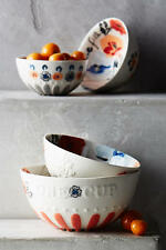 NWT Anthropologie Handpainted Lucerne Measuring Cups, Set of 4, Raised Letters