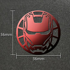 Iron Man Movies Red 3D Metal Sticker For Phone PSP Computer Laptop Cars Toys