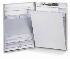 "Oic Aluminum Storage Clipboard - 30 - Side Opening - 8.50"" X 12"" - Aluminum"