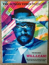 SUNDAY TIMES MAGAZINE NEW TECH ISSUE WILL.I.AM ADS CROWLEY BMW ROBOT DISH PIXAR