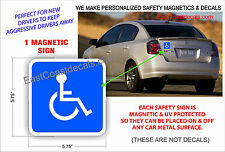 HANDICAP SAFETY Magnetic Sign SYMBOL NEW Heavy Duty Magnetic On & Off with Ease