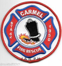 "Carmel  Station-42  Fire - Rescue, ME  (4"" round size) fire patch"