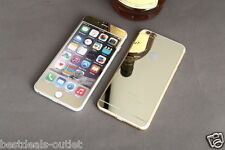 Apple iPhone 6 Plus - Gold Tempered Glass - Mirror Shiny Effect - Front & Back
