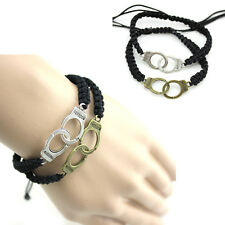 Fashion Punk Hand Weave Bracelet Braided Handcuffs Bracelet Couples Jewelry New