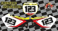 SUZUKI RM 125-250 Number Backgrounds Graphics Decals 2001-2008 RM RMZ MX