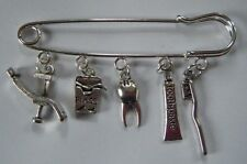 DENTIST HYGIENIST ORTHODONTIST DENTAL SURGEON STUDENT GIFT KILT PIN BROOCH NURSE