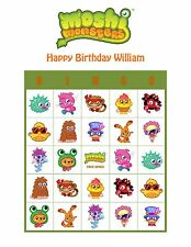 Moshi Monsters Personalized Birthday Party Game Activity Bingo Cards