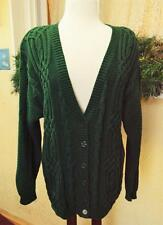 Worthington Celtic Knot Cable Knit Boyfriend Sweater L Classic Warm Wear w/Jeans