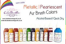 Metallic Edible Colors | Air Brush Cake Decorating| 20 ML | Rose | Ethanol