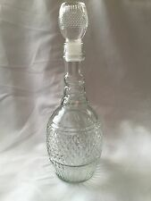 Vintage WINE DECANTER Clear Glass Diamond Cut Pattern MD-1975