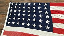 Vintage 48 star American Flag   WWII  period 5 x 8 1/2' Prudence Robinson