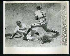 Walt Moryn & Del Rice 1956 Press Photo Chicago Cubs Milwaukee Braves