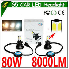 New H3 80W 8000LM Cree LED Car Headlight Kit Beam Bulbs 6000K White High Power