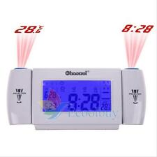 Digital LCD Dual Projection Snooze Wall Alarm Clock Temperature Clapping Sensor